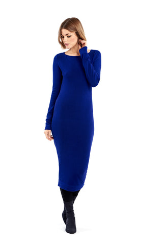 Cashmere Fitted Shift Dress Purple