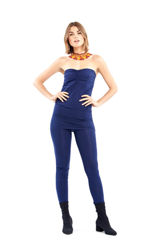 Bamboo Crossover Top Navy