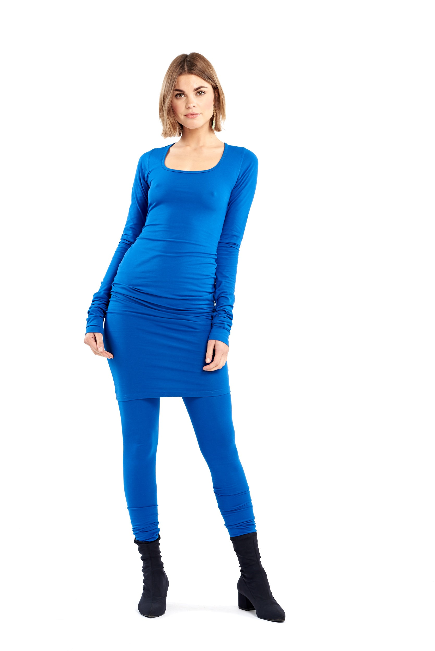 Organic Bamboo NYC Dress Cobalt Blue