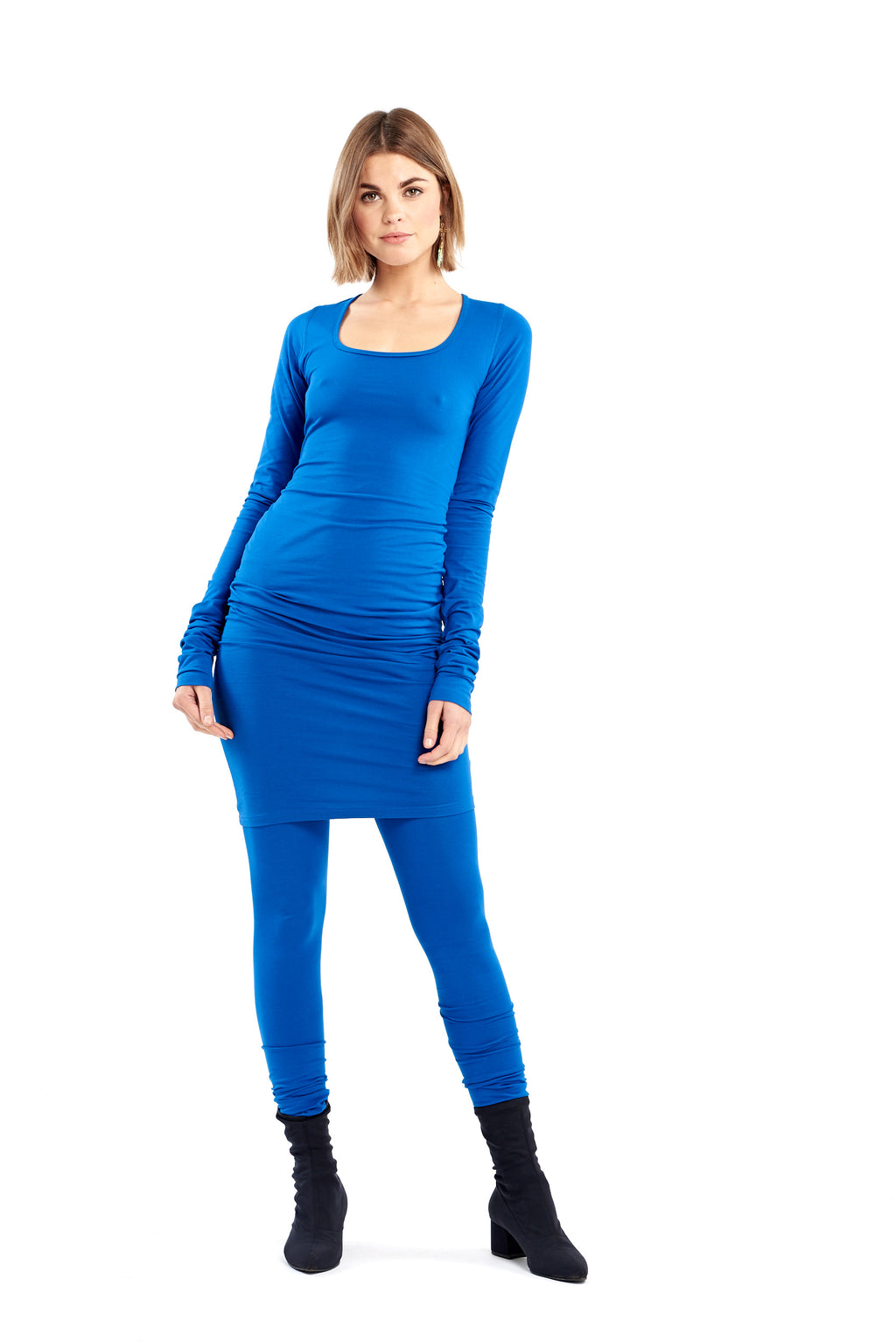 Organic Bamboo NYC Dress Cobalt Blue - MUDRA