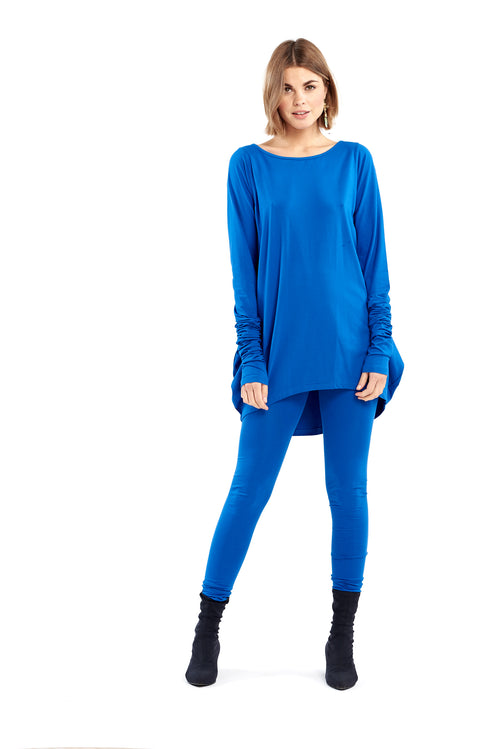 Organic Bamboo Dutch Top Royal Blue