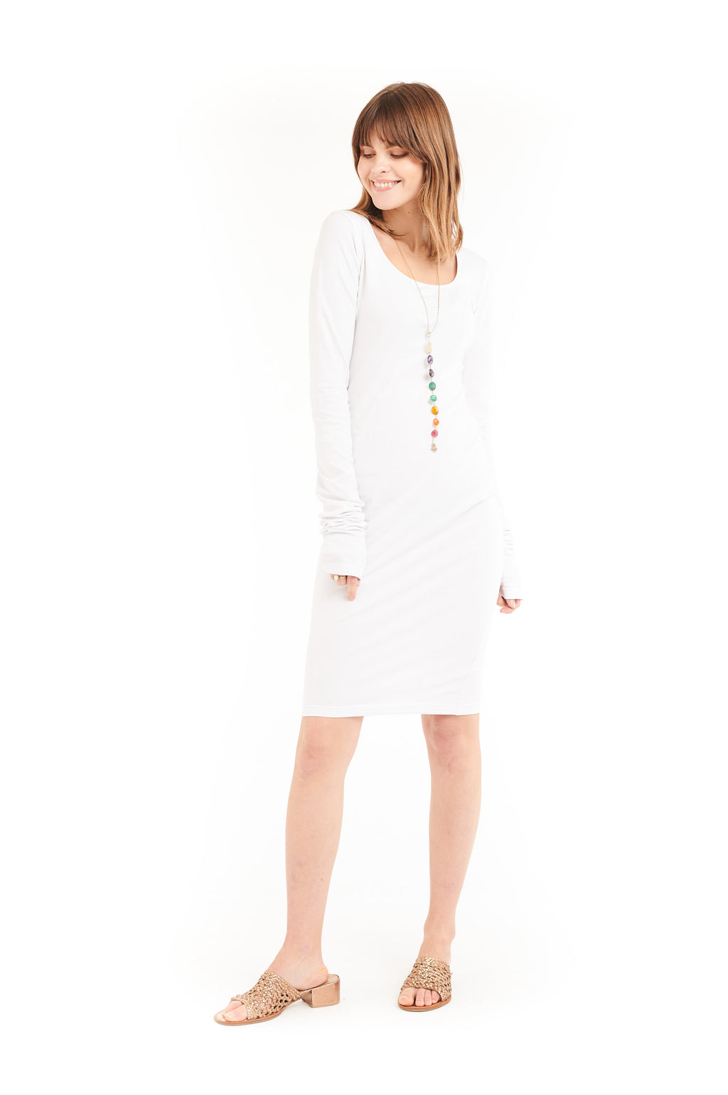 Organic Bamboo NYC Dress White - MUDRA