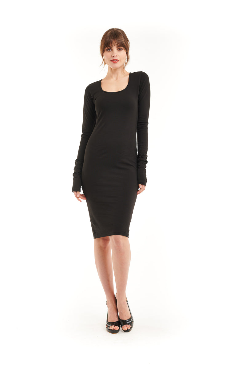 Organic Bamboo NYC Dress Black - MUDRA