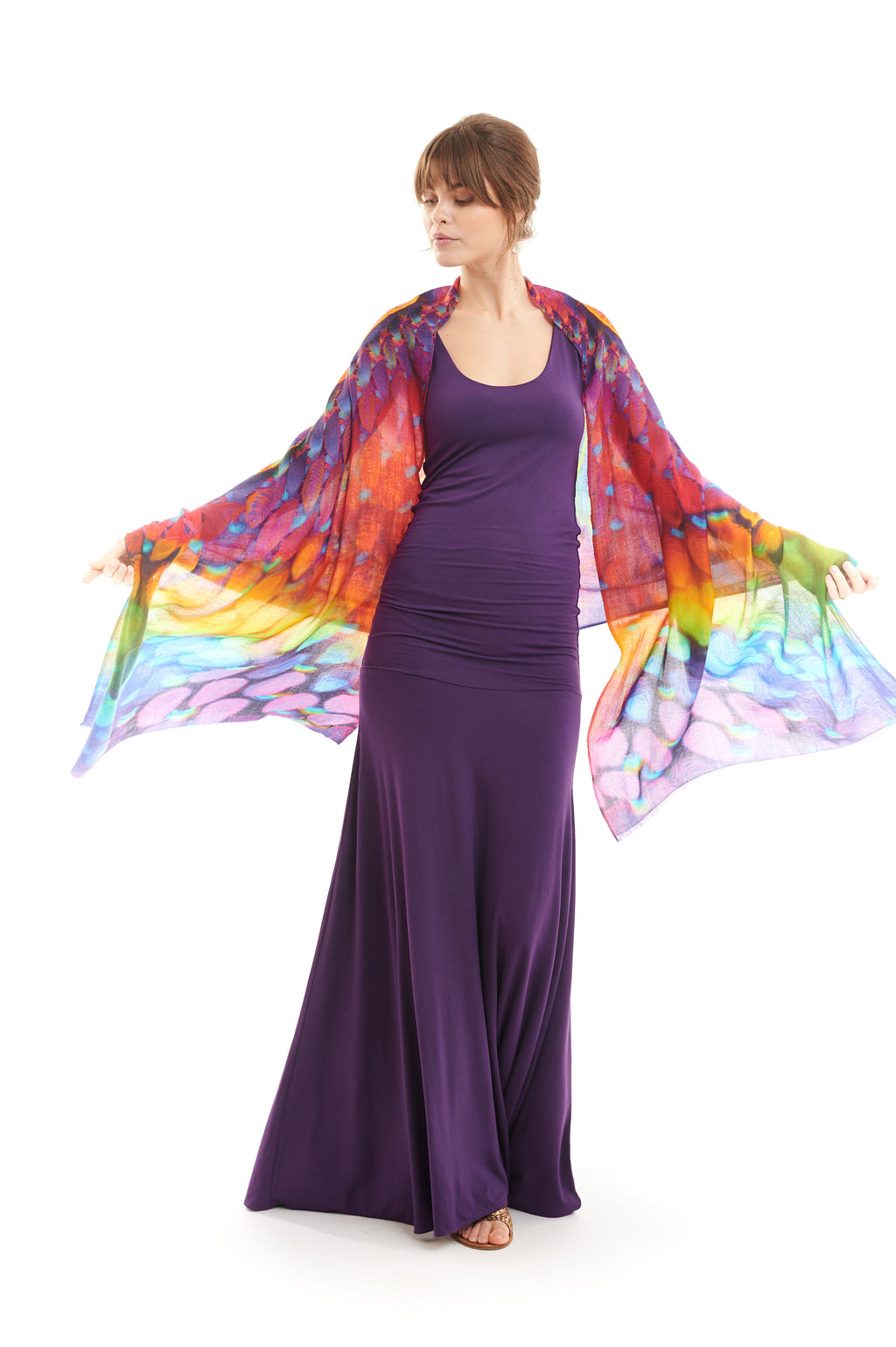 Bamboo Flamenco Dress Purple - MUDRA