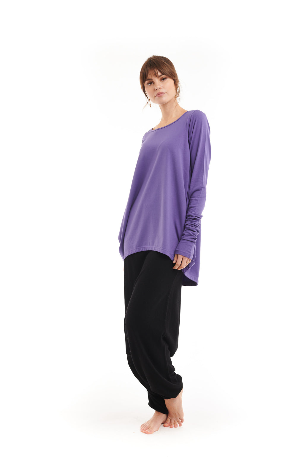 Organic Bamboo Dutch Top Bright Purple - MUDRA