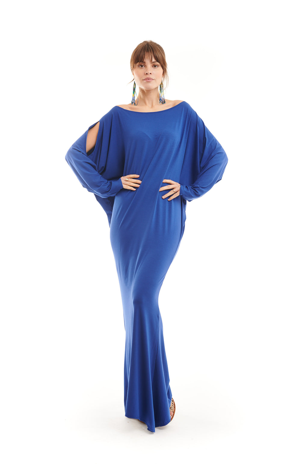 Bamboo Grecian Grace Dress Cobalt Blue - MUDRA