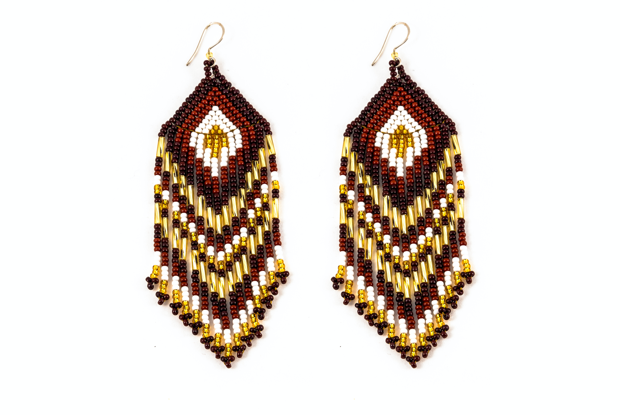 Medicine Beaded Earrings Brown