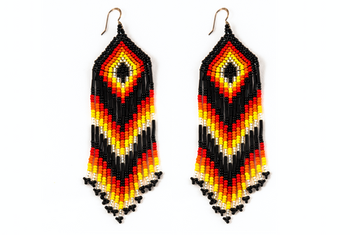 Medicine Beaded Earrings Black