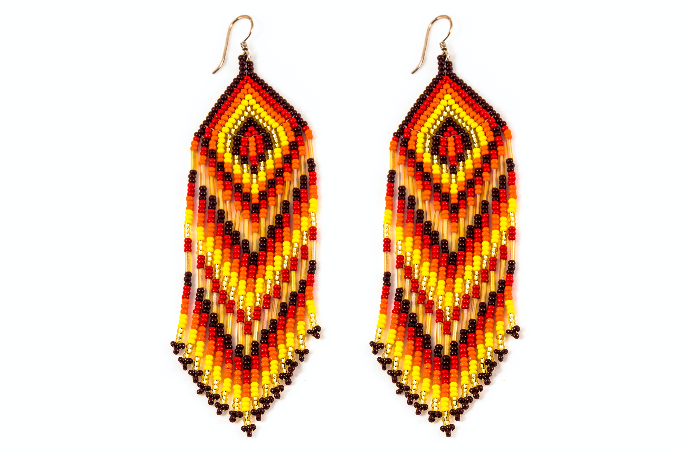 Medicine Beaded Earrings Orange