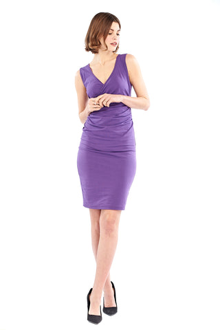 Bamboo Bardot Dress Purple