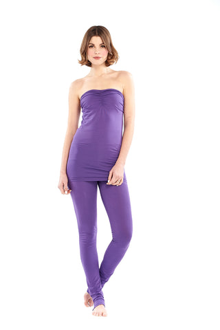 Bamboo Yoga Pants Flared Deep Purple