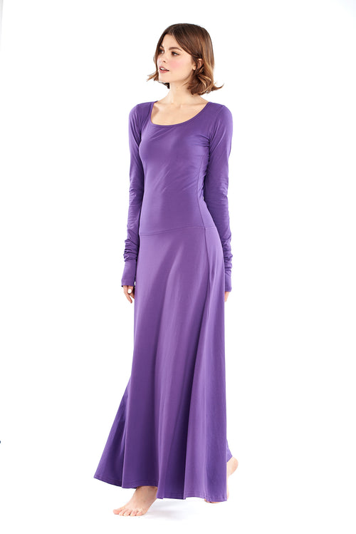 Organic Bamboo Avalon Hooded Dress Bright Purple