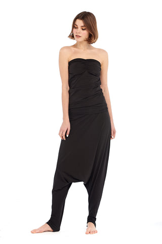 Bamboo Side Slit Skirt Black