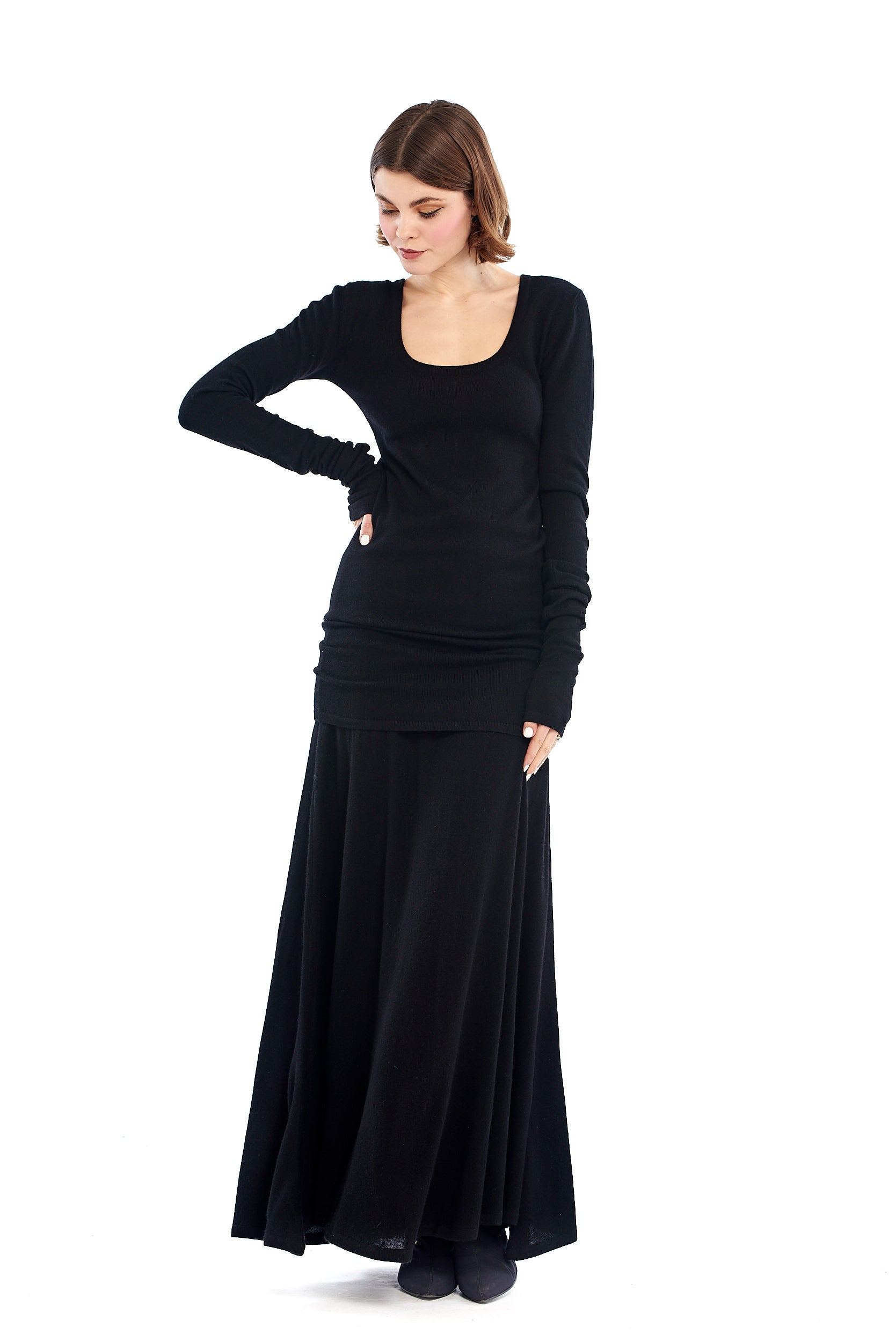 Cashmere Avalon Skirt Black