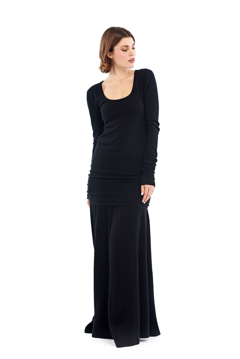 Cashmere Avalon Skirt Black - MUDRA