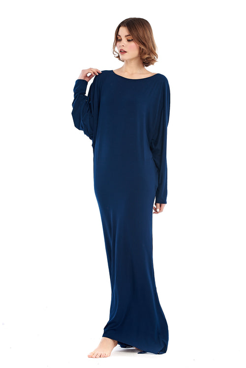Bamboo Grecian Grace Dress Navy