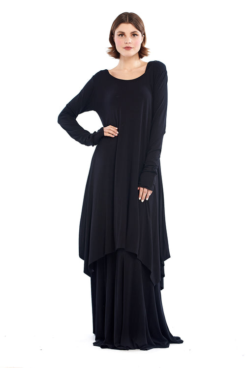 Bamboo Rajasthan Dress Black
