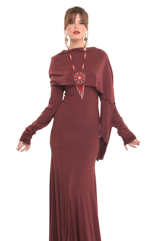Bamboo Bardot Dress Red