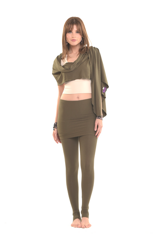 Bamboo Lotus Dress Top Olive Green