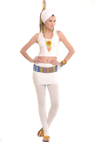 Bamboo Sweetheart Vest Top White