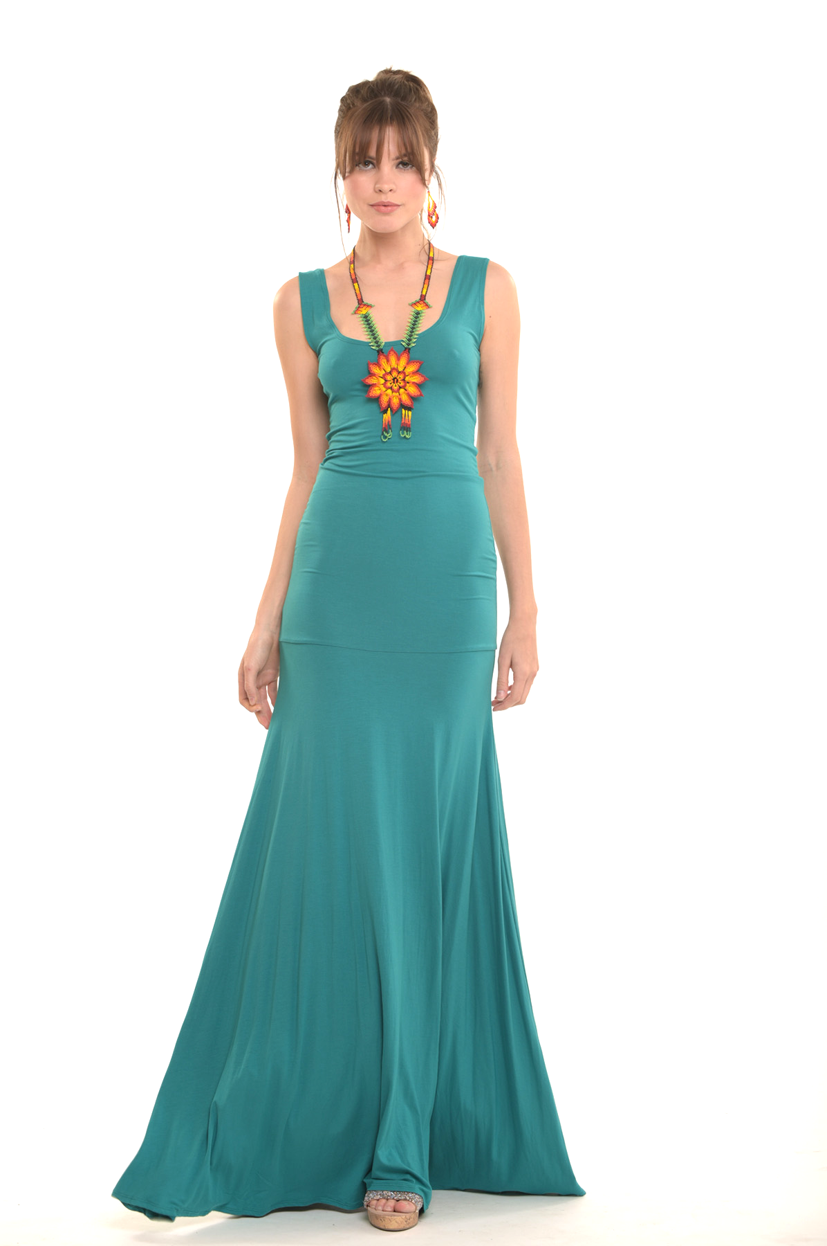 Bamboo Flamenco Dress Jade