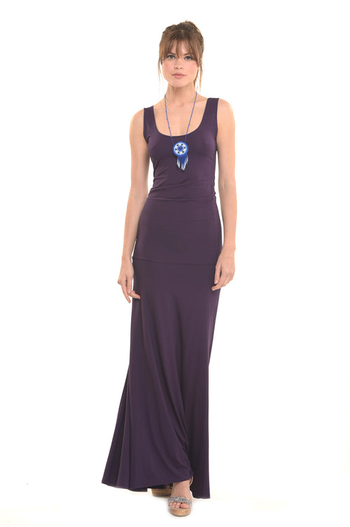 Bamboo Flamenco Dress Deep Purple
