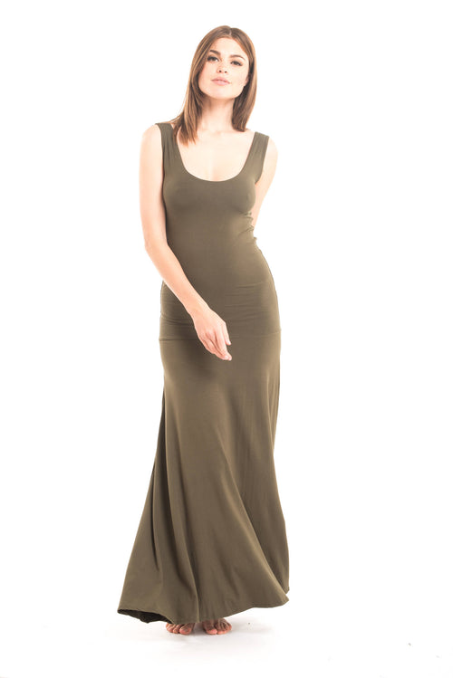 Bamboo Flamenco Dress Olive Green