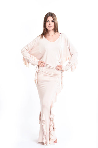 Bamboo Asymmetric Top White