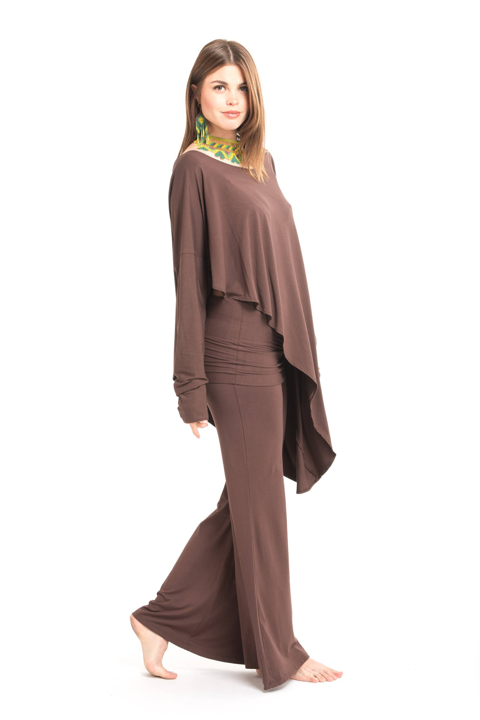 Bamboo Asymmetric Top Brown
