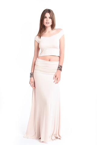 Bamboo Bardot Dress White