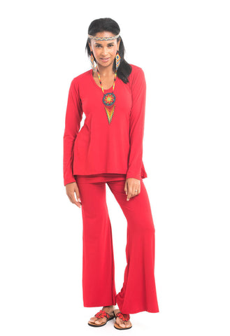 Bamboo Waterfall Jacket Red