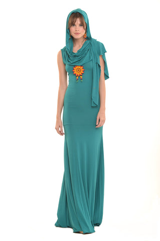 Bamboo Bardot Dress Jade