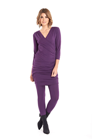 Bamboo Poncho Deep Purple