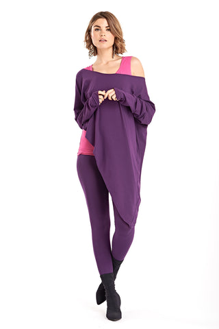 Bamboo Asymmetric Top Purple