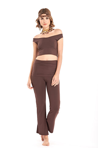 Bamboo Long Leggings Brown