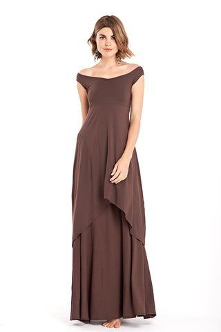 Cashmere Guinevere Dress Dark Brown NO SASH