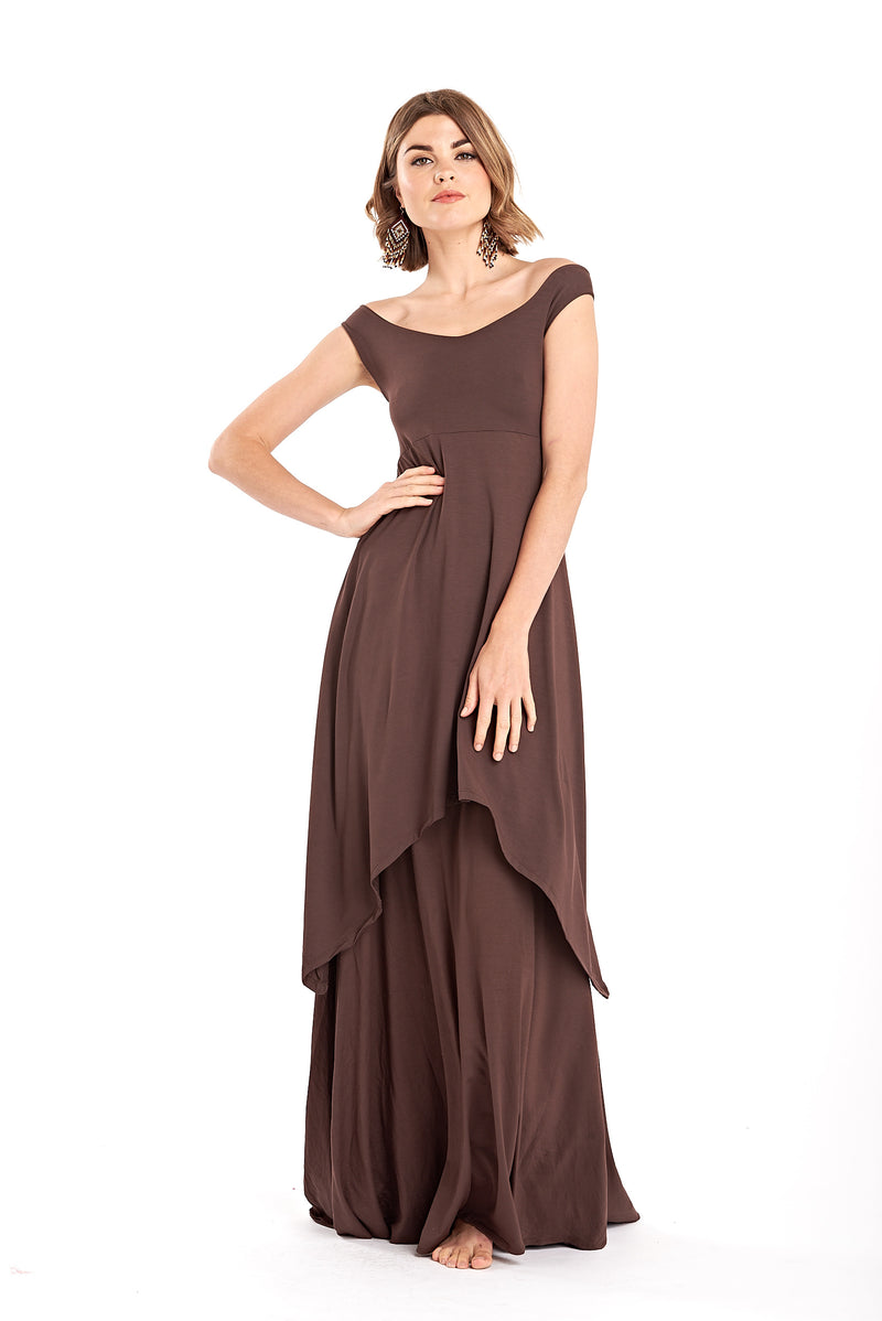 Bamboo Pixie Dress Brown - MUDRA
