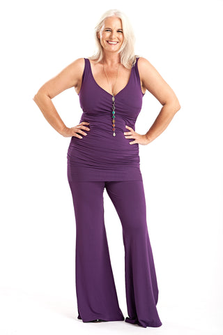 Bamboo Sweetheart Vest Top Purple