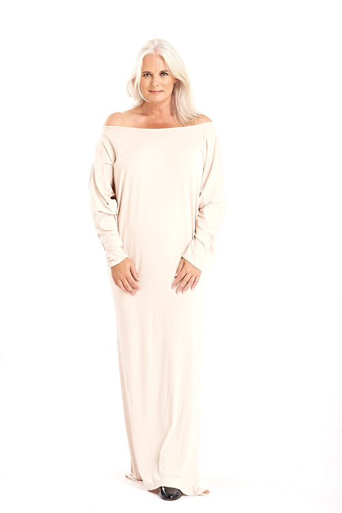 Bamboo Grecian Grace Dress Ecru