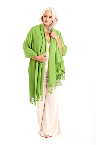 Pre Order Until 28th Nov: Ultrafine Pure Cashmere Dharma Shawl - Angel Wings