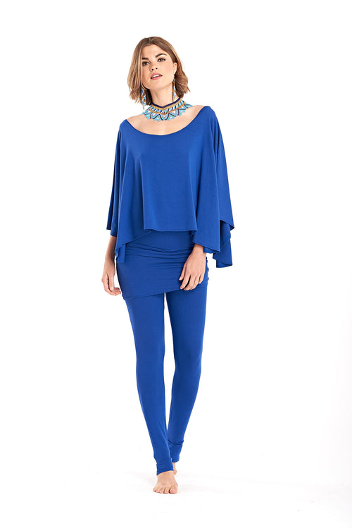 Bamboo Long Leggings Cobalt Blue