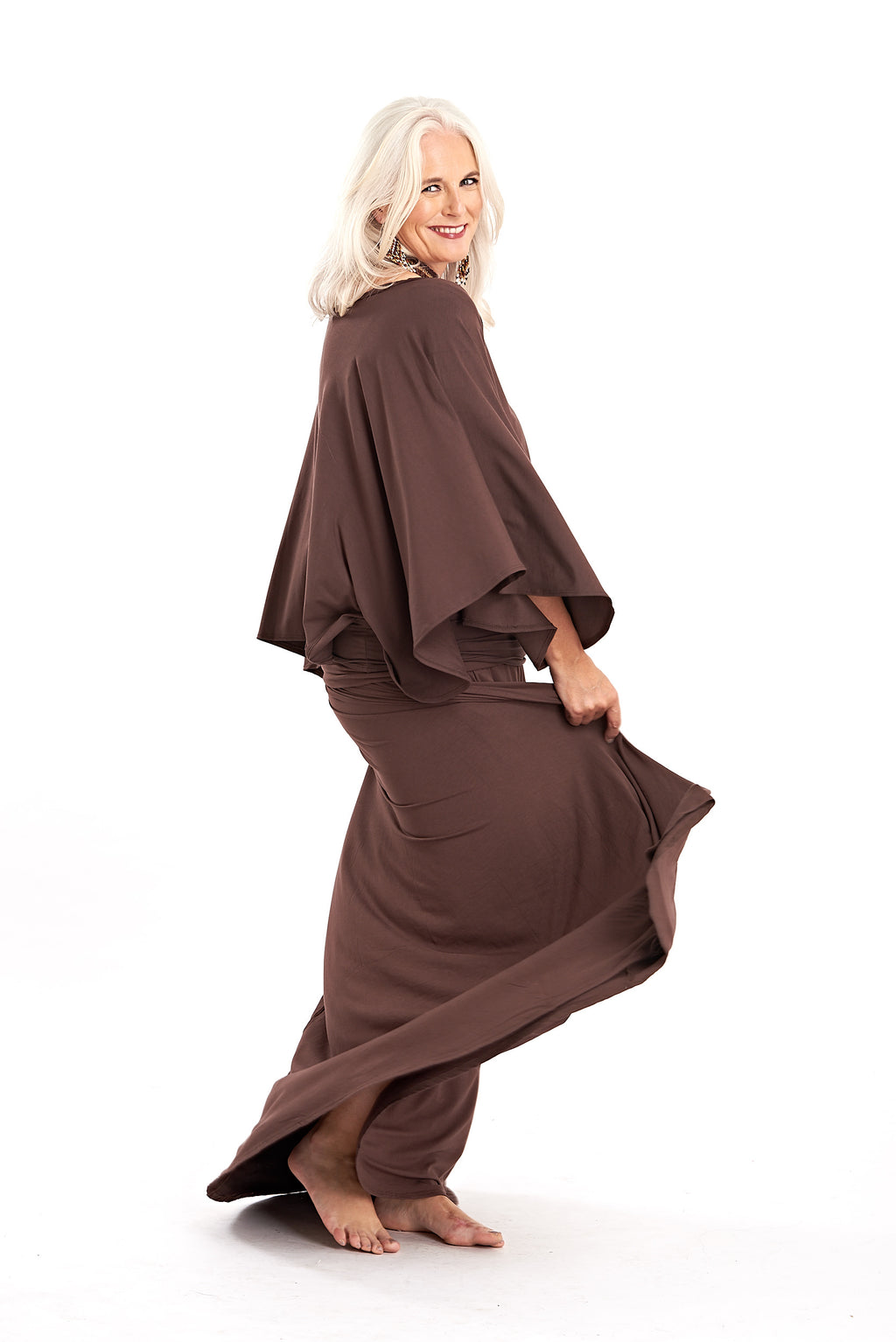 Bamboo Flamenco Skirt Brown - MUDRA