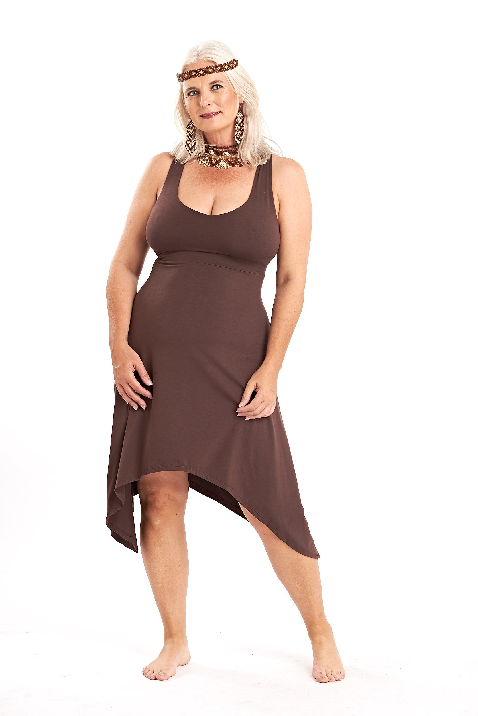 Bamboo Pixie Dress Brown