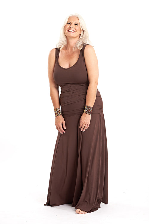 Bamboo Sweetheart Vest Top Brown