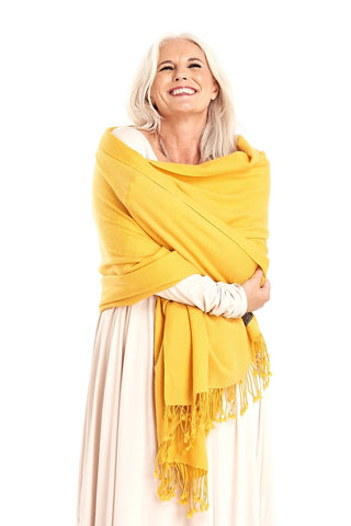 Cashmere Sequinned Poncho Cream