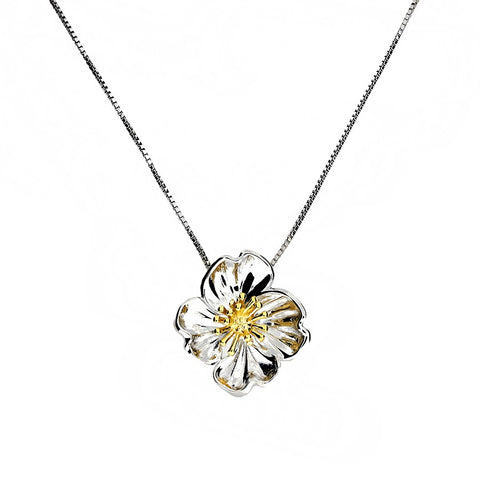 Primrose February Birthday Flower Pendant