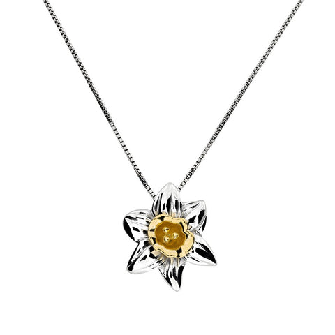 December narcissus Birthday Flower necklace