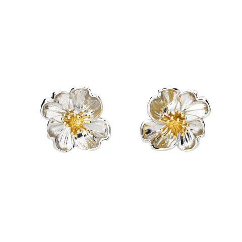 February Primrose Flower Earrings