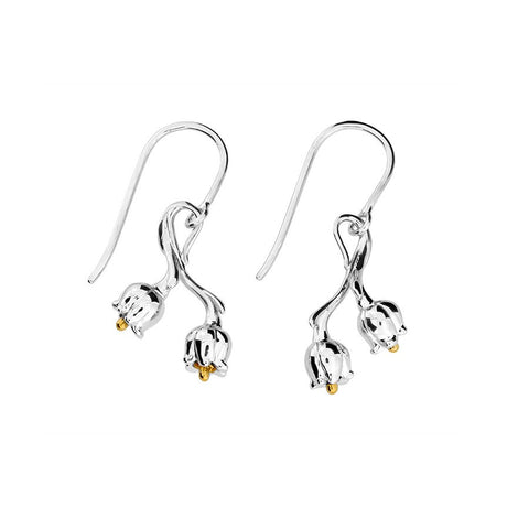 May Lily of the Valley Drop Earrings