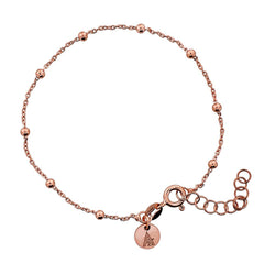Rose Vermeil Beaded Chain Bracelet